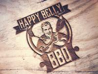 Happy Belly BBQ - Restaurant logo (concept)