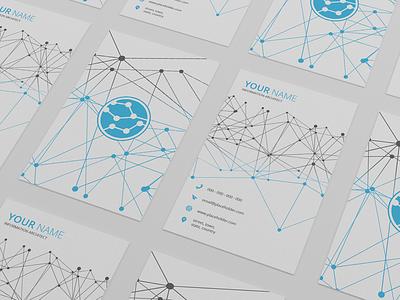 Tech business card template tech sellfy psd business card
