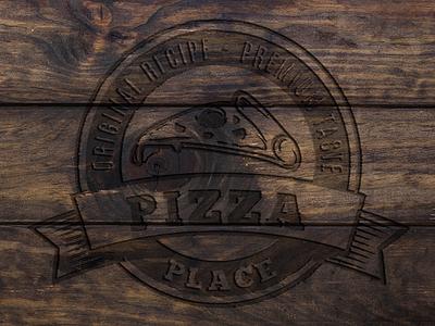 Wood 'n Food logo mockup café bar restaurant logo mockup