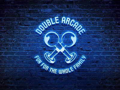 Double Arcade logo design concept games gaming arcade branding design logo