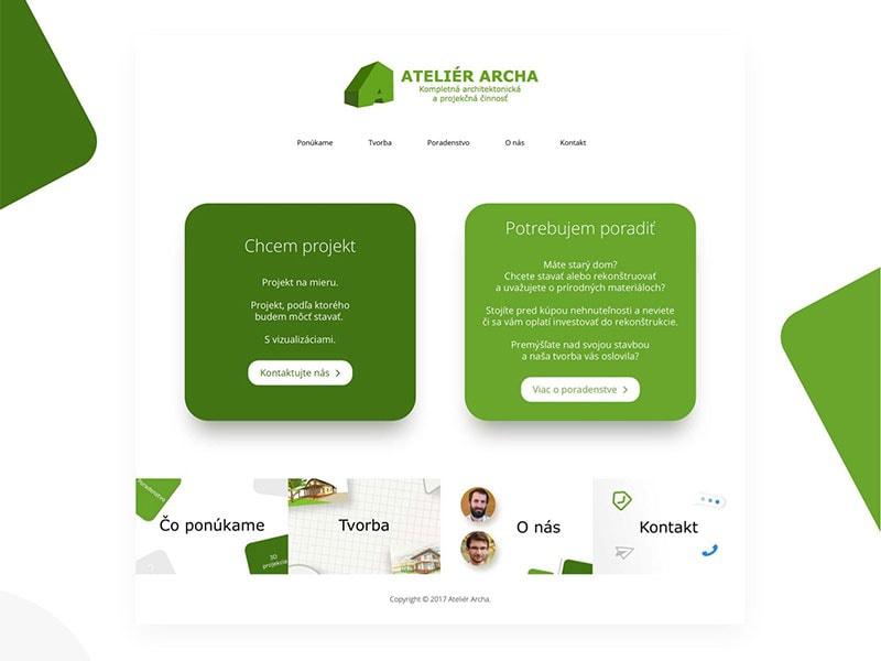 Website redesign for Atelier Archa genesis framework simple minimalism minimal architect archa atelier concept design redesign wordpress website