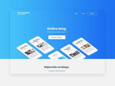 Designing website for Ako uspesne