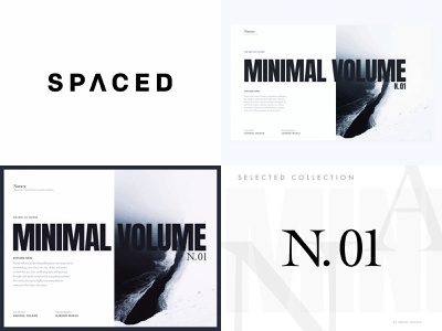 My top 4 shots from 2018 grid layout whitespace black year clean typography animation product concept spaced mininal design interface website web ux ui four best