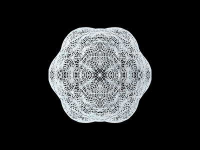 sMESHed Spheres Vol.#3 snowflake frozen christmas winter animation deformation experiment subdivision wireframe object rotation sphere particles abstract art concept mesh cinema 4d cinema4d c4d