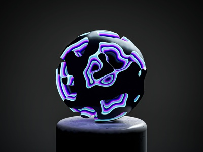 Colorful Intersections sphere experiment carved damaged object form alien color disintegration matte marble liquid waves cinema4d studio cinema 4d abstract art c4d concept
