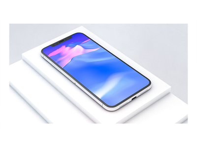 iPhone on Stairs white apple cellphone phone mobile screen abstract wave object crop stairs iphone x meng to minimal cinema 4d cinema4d c4d organic natural animation