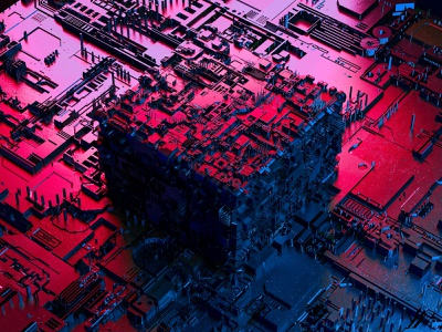 The Industrial Matrix spikes wallpaper sci-fi futuristic city rectangle jspacement complicated texture map displacement square cube experiment cinema 4d cinema4d art abstract c4d concept