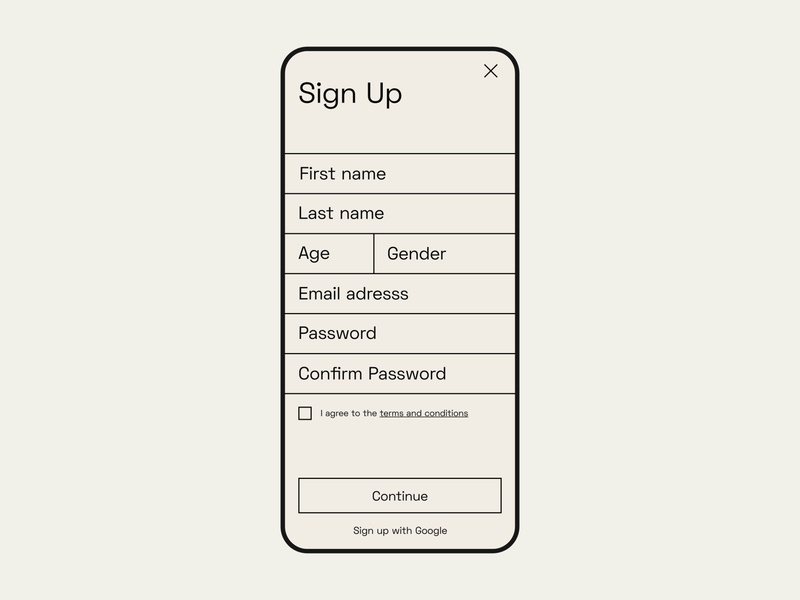 #dailyui — Sign Up daily ui dailyui log in sign in sign up signup adobexd adobe xd shot museum visual design exploration web website mobile design mobile design uidesign ui design ui