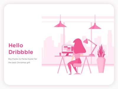 Hello Dribbble first shot hello dribbblers illustration debut