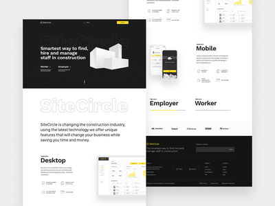 SiteCircle homepage startup software design software main page typography lines mainpage branding home homepage illustration digital design ui construction