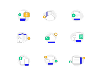 Simple, clean icons