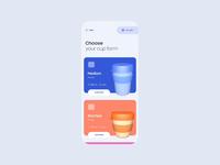 Coffee cup customizer UI