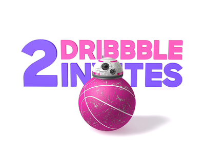 2 Dribbble Invites dribbble invitation c4d bb8 invites dribbble invite