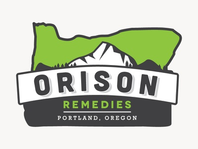 Orison Remedies logo branding packaging 420 weed medical marijuana dispensary mt hood oregon