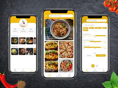 Cooking Recipe App design recipe app bake phone user interface app ios tasty mobile app ui  ux cooking app food cooking recipe