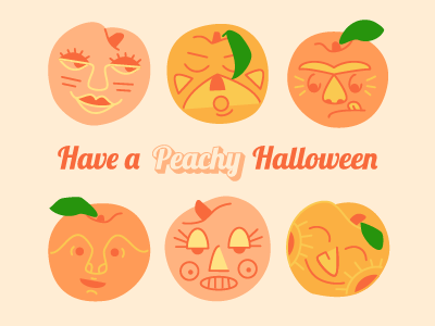 Peachy Halloween illustration cartoon atlanta halloween peaches