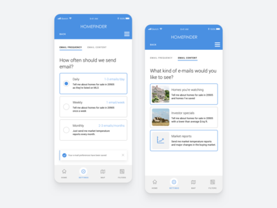 Daily UI 007 Email Preference + Settings