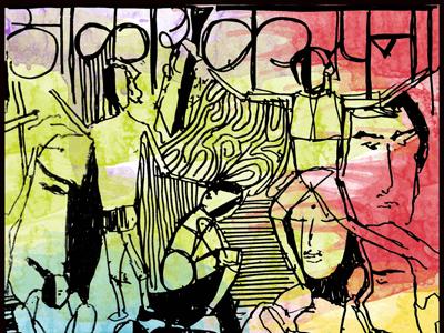 Aakaar: Graphic Design digital indian colorful hand-drawn illustration