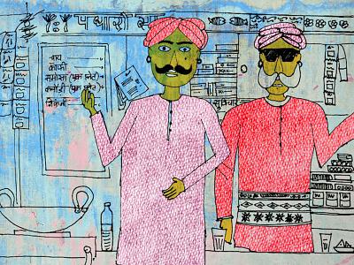 Rajasthan: Indian Illustration cultural illustration graphic colorful sketching handmade rajasthan indian india