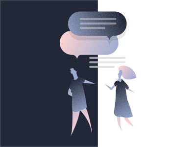 Let's connect gradient story graphic illustration