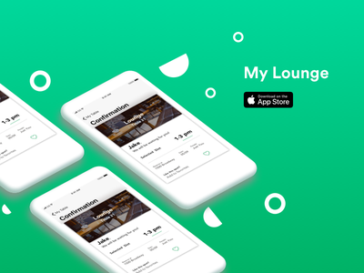 My Lounge: Meet and Greet mockup iphone lounge ux ui