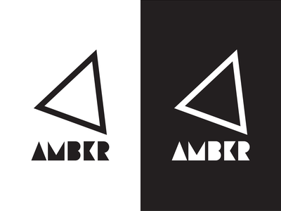 Logo Design Proposal for Amber amber geometric logo proposal design triangle geometric logo