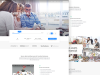 Small Business Loans Landing Page