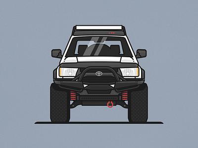 4Runner lines suv car illustration truck 4runner