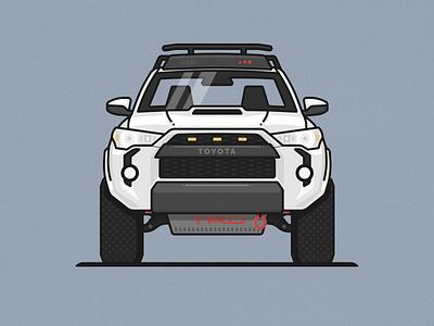 TRD 4Runner illustration suv car truck toyota trd pro 4runner