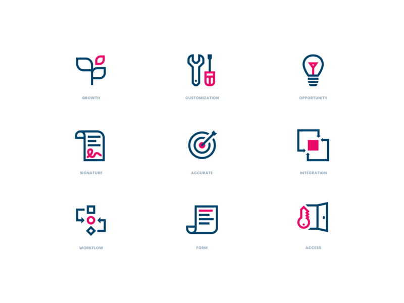 Icons glyph icon set simple icon