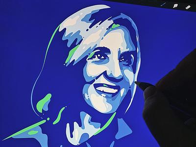 Woman Portrait portrait illustration drawing procreate portrait