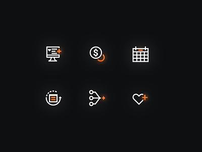 Dark Mode Icons iconmark glow dark dark mode dark ui icon set iconset icons