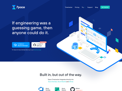 7pace Landing Page redbull isometric illustration isometric isometry desktop desk computer illustration landing page