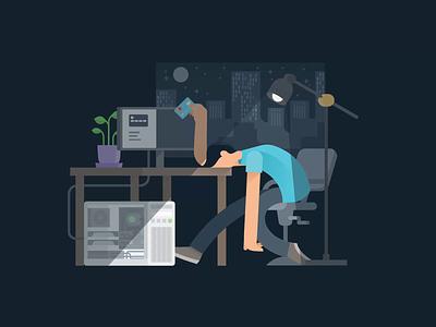 Frustrating Animation design figma clean ilustration computer pc people motion design animation
