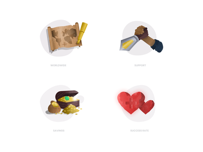 RAD Spot Illustrations/Icons icon set icon icons rad money handshake map heart design figma illustration