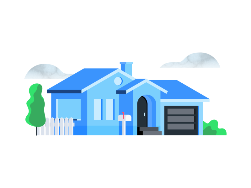 Real Estate Illustration blue clean app clean real estate illustration flat