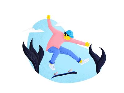 Skater Kickflip grain person people illustration kickflip skateboard skate