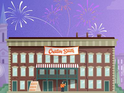 Creative South 2020 mike jones illustration website cs2020 creative south