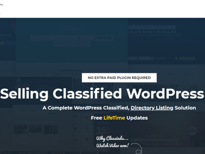Classifieds WordPress theme free best illustration design classified ads classified