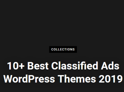 10+ Best Classifieds Ads WordPress Themes in 2019