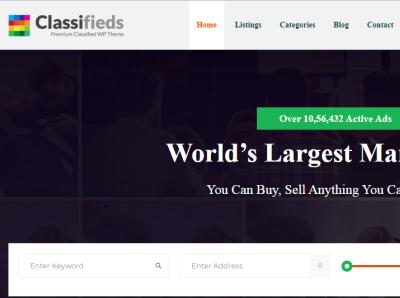 Classifieds – Classified Ads Wordpress Theme!
