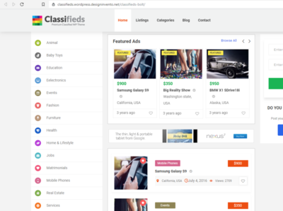 Best Classified Ads Theme