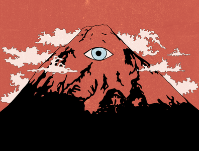 holy mt. trippy mountain illustration