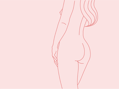p i n k y female nude simple drawing illustration sexy vector