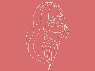 mermaid femme drawing pastel sexy self illustration linework girl