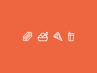 QRious Food Icons food and drink pizza ice cream hot dog food icon