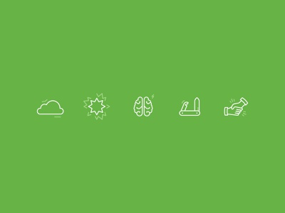 Work Simple Icons intelligence handshake versatility swissarmyknife brain explosion boom cloud icons