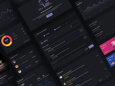 Nile Design Kit design saas chart dark popup charts analytics dashboard ui design ui design system ui kit design ui kit