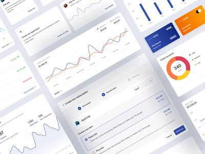 Nile Dashboard & Design system figma saas light dark table analytics chart web app dashboard template tablet uiux app design system dashboard