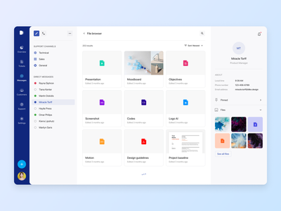 File Manager on chat app figma light analytics graph design system ui kit timeline task board project management admin templates file manager email e-commerce dashboard chat chart kit calendar admin dashboard admin dark